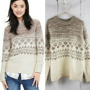 Banana Republic Fair Isle Pullover Sweater